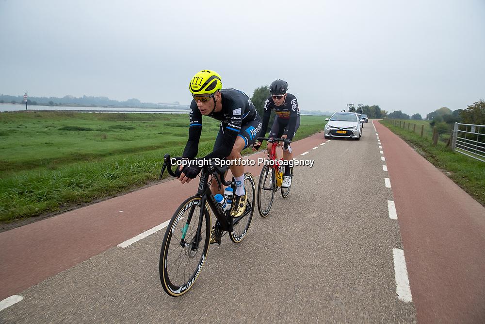 20-10-2019: Cycling: Road; Tiel <br />Rick Ottema en Florian Vermeersch kleurden de koers met een ontsnapping