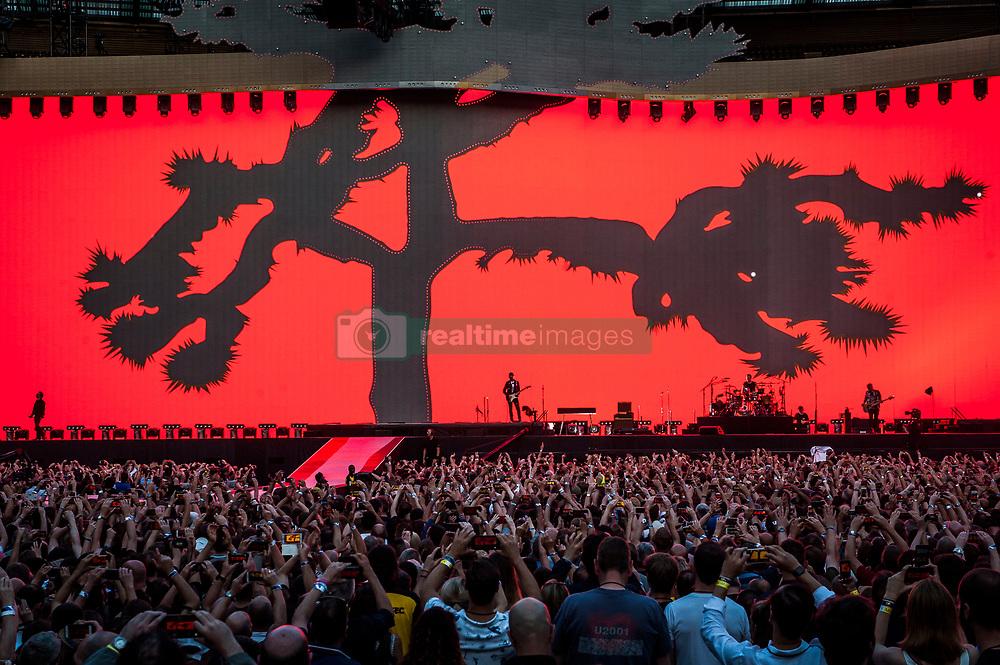 U2 perform Joshua Tree live on stage at Twickenham Stadium, Twickenham, London. Photo date: Saturday 8th July 2017. Picture credit should read: © DavidJensen/Empics Entertainment