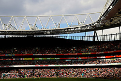 LONDON, ENGLAND - Sunday, April 2, 2017: Arsenal's Emirates Stadium bathed in Spring sunshine during the FA Premier League match against Manchester City at the Emirates Stadium. (Pic by David Rawcliffe/Propaganda)