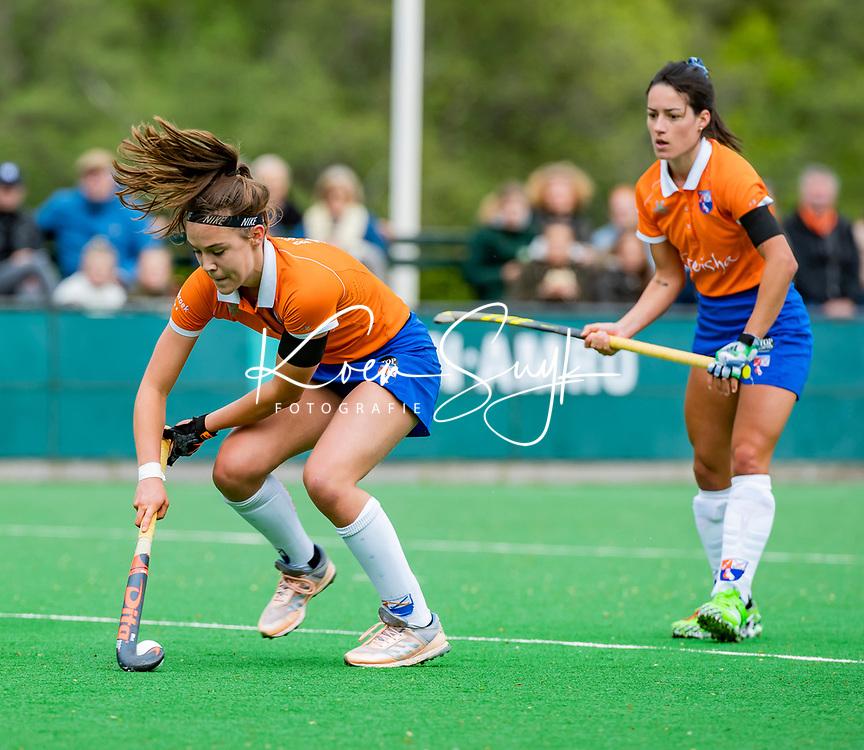 BLOEMENDAAL -   Carmel Bosch (Bldaal)   , Libera hoofdklasse hockey Bloemendaal-Pinoke (0-0). COPYRIGHT KOEN SUYK