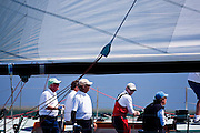 Nefertiti sailing in the Nantucket 12 Meter Class Regatta.