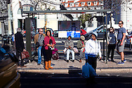 People waiting for the bus in Cais do Sodré, Lisbon. General strike against the new austerity measures created by the government. November 24th, 2011