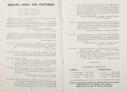 All Ireland Senior Hurling Championship Final, .Brochures, .23.09.1956, 09.23.1956, 23rd September 1956,.Wexford 2-14, Cork 2-8,.Minor Kilkenny v Tipperary, .Senior Cork v Wexford,.Croke Park,..Articles, Hurling Down the Centuries, The Path to the Final,