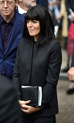 Claudia Winkleman leaves Westminster Abbey, London, following the Service of Thanksgiving for Sir Terry Wogan.