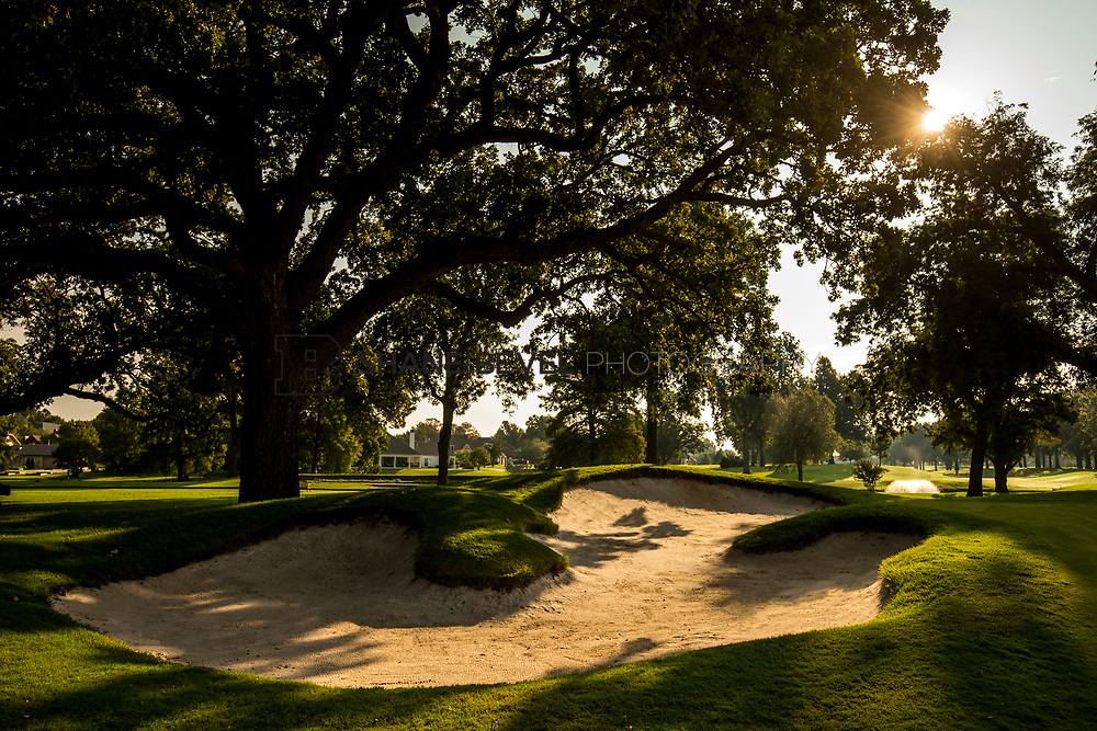 9/25/17 9:13:20 AM -- Bunkers and greens on Cedar Ridge Country Club for Jonesplan. <br /> <br /> Photo by Shane Bevel
