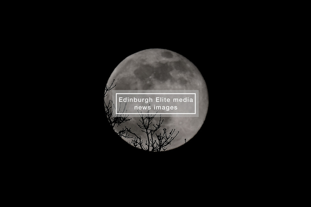 Supermoon, 9 February 2020<br /> <br /> A Supermoon was visible tonight from Scotland. <br /> <br /> The moon is close to the Earth which makes it look bigger and brighter.<br /> <br /> Aimee Todd | Edinburgh Elite media
