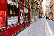 Le Tire Bouchon Restaurant, in old town Vieux Lyon, France (UNESCO World Heritage Site)