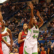 Ariel Braker, Notre Dame, in action during the Notre Dame Fighting Irish V Louisville Cardinals Semi Final match during the Big East Conference, 2013 Women's Basketball Championships at the XL Center, Hartford, Connecticut, USA. 11th March. Photo Tim Clayton