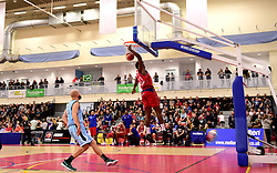 Leslee Smith of Bristol Flyers scores a basket in front of a packed crowd  - Photo mandatory by-line: Joe Meredith/JMP - 18/11/2016 - BASKETBALL - SGS Wise Arena - Bristol, England - Bristol Flyers v Surrey Scorchers - British Basketball League