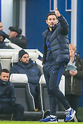 Frank Lampard, Head Coach of Chelsea FC with a thumbs up during the Premier League match between Brighton and Hove Albion and Chelsea at the American Express Community Stadium, Brighton and Hove, England on 1 January 2020.
