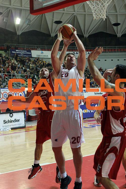 DESCRIZIONE : Roma Uleb Cup 2005-06 Lottomatica Virtus Roma Stella Rossa Belgrado<br /> GIOCATORE : Tusek<br /> SQUADRA : Lottomatica Virtus Roma<br /> EVENTO : Uleb Cup 2005-2006<br /> GARA : Lottomatica Virtus Roma Stella Rossa Belgrado<br /> DATA : 10/01/2006<br /> CATEGORIA : <br /> SPORT : Pallacanestro<br /> AUTORE : Agenzia Ciamillo&amp;Castoria/M.Cacciaguerra<br /> Galleria : Uleb Cup 2005-2006<br /> Fotonotizia : Roma Uleb Cup 2005-06 Lottomatica Virtus Stella Rossa Belgrado<br /> Predefinita :