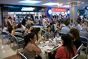 Florida Street, Buenos Aires. Pacifico mall. Food court.