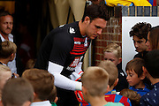 Alex McCarthy signing autographs before the Pre-Season Friendly match between Bromley and Crystal Palace at the Courage Stadium, Bromley, United Kingdom on 30 July 2015. Photo by Michael Hulf.