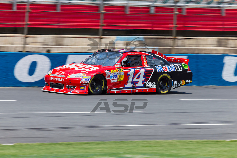 CONCORD, NC - MAY 26, 2012:  Tony Stewart (14) brings his Office Depot Chevrolet