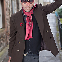 David Stavanger aka Ghostboy; Photographed at the StAnza Poetry Festival in St Andrews, Scotland. 3 July 2013<br /> <br /> Photograph by Chris Scott/Writer Pictures<br /> <br /> WORLD RIGHTS