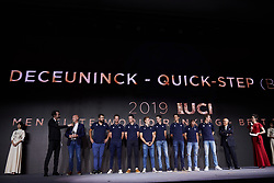 Deceuninck-Quickstep at UCI Cycling Gala 2019 in Guilin, China on October 22, 2019. Photo by Sean Robinson/velofocus.com