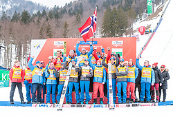 25.03.2018, Planica, Ratece, SLO, FIS Weltcup Ski Sprung, Planica, Siegerehrung, im Bild Nationencup Sieger Norwegen // Nationscup Winner Norway during the Winner Award Ceremony of the FIS Ski Jumping World Cup Final 2018 at Planica in Ratece, Slovenia on 2018/03/25. EXPA Pictures © 2018, PhotoCredit: EXPA/ JFK