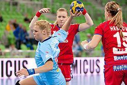 Ana Petrinja of Slovenia during handball match between Women National Teams of Slovenia and Czech Republic of 4th Round of EURO 2012 Qualifications, on March 25, 2012, in Arena Stozice, Ljubljana, Slovenia. (Photo by Urban Urbanc / Sportida.com)
