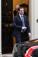 Chancellor of the Exchequer George Osbourne leaves for the Houses of Parliament to attend the budget debate,  Westminster<br /> Picture by Paul Davey/Focus Images Ltd +447966 016296<br /> 22/03/2016