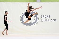 at practice of Slovenian Rhythmic Gymnastics Team before 36th European Rhythmic Gymnastics Championships in Budapest - Hungary, on May 15, 2017 in Gimnasticna dvorana, Ljubljana, Slovenia. Photo by Matic Klansek Velej / Sportida