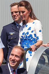The Duke and Duchess of Cambridge visit RAAF Base Amberley. The Australian Air Force Base is the home of the F18 Hornet Fighter Jet  and 1 Squadron RAAF Base Amberley near Brisbane, Australia. Saturday, 19th April 2014. Picture by  i-Images / i-Images