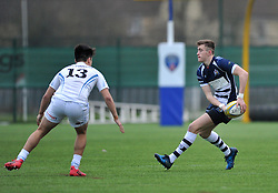Nathan Chamberlain - SGS College of Bristol Academy U18 passes the ball - Mandatory by-line: Paul Knight/JMP - 07/01/2017 - RUGBY - SGS Wise Campus - Bristol, England - Bristol Academy U18 v Exeter Chiefs U18 - Premiership U18 League