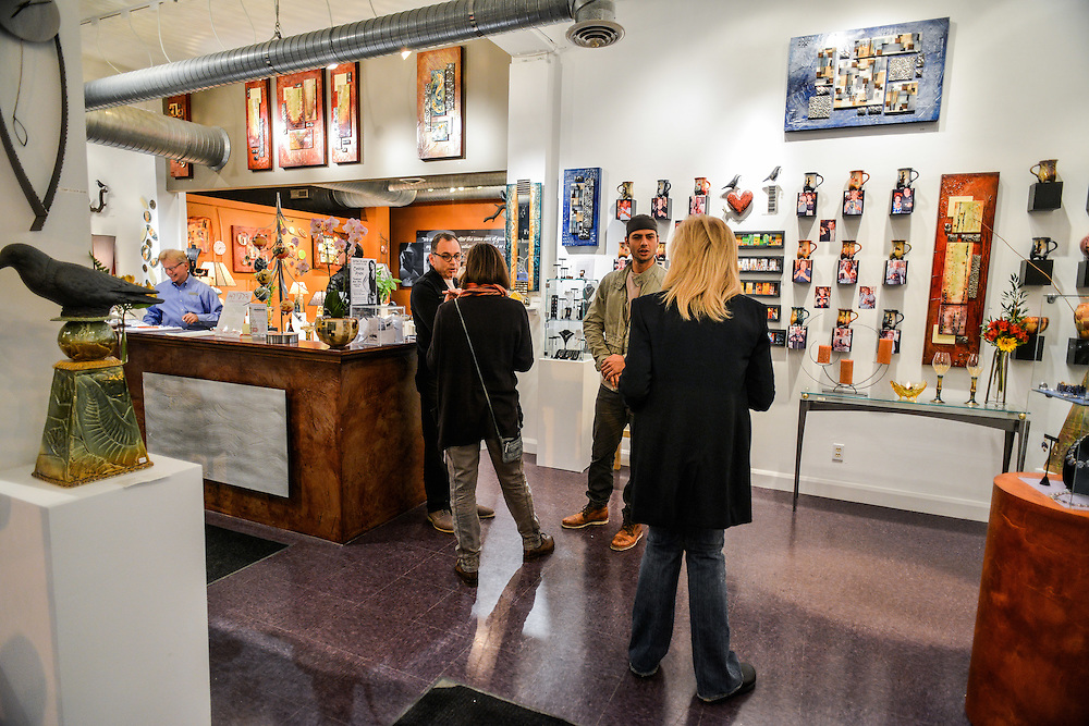 Guests shopping at Zeber-Martell Clay Studio and Art Gallery.