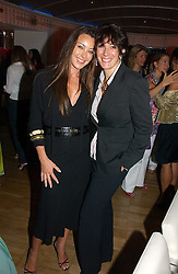 Left to right, TAMARA MELLON and GHISLAINE MAXWELL at a party hosted by Elizabeth Saltzman and Harvey Nichols to celebrate the UK launch of New York fashion designer Tory Burch held at the Fifth Floor Restaurant, Harvey Nichols, Knightsbridge, London on 24th May 2006.<br /><br />NON EXCLUSIVE - WORLD RIGHTS