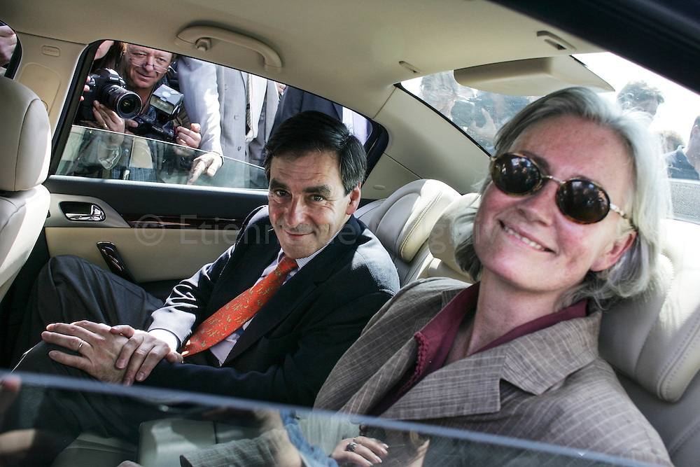 19 May 2007. In his constituency in the Sarthe departement, French newly appointed PM Francois Fillon launches the UMP campaign for the upcoming French parliamentary elections. With his wife Penelope.