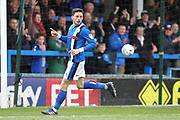 GOAL Ian Henderson scores for Rochdale 2-0 during the EFL Sky Bet League 1 match between Rochdale and Coventry City at Spotland, Rochdale, England on 17 April 2017. Photo by Daniel Youngs.
