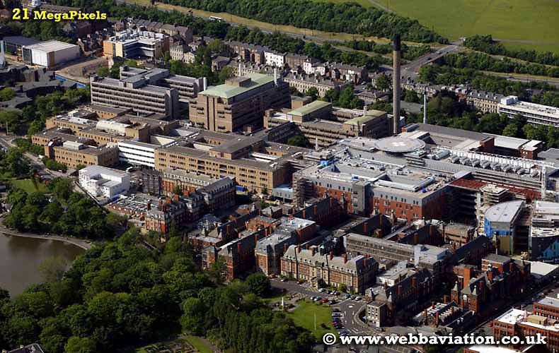 aerial photograph of the Royal Victoria Infirmary   Newcastle upon Tyne England UK