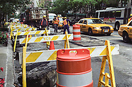 Street work on East 79th street in New York City.