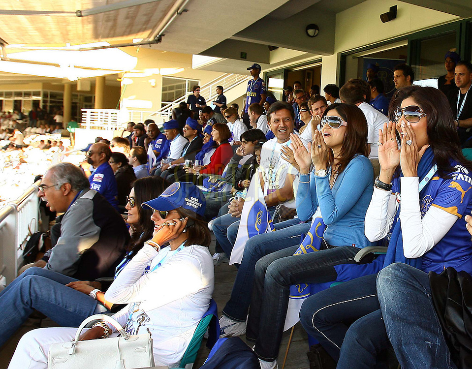 CAPE TOWN, SOUTH AFRICA - 26 April 2009, Shilpa and Shamita Shetty during the IPL Season 2 match between TheKings X1 Punjab and Rajasthan Royals held at Sahara Park Newlands in Cape Town, South Africa..