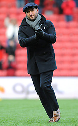 Bristol City head coach Lee Johnson  thanks fans at the full time whistle - Mandatory by-line: Nizaam Jones/JMP - 17/03/2018 - FOOTBALL - Ashton Gate Stadium- Bristol, England - Bristol City v Ipswich Town - Sky Bet Championship