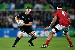 Sam Cane of New Zealand in possession - Mandatory byline: Patrick Khachfe/JMP - 07966 386802 - 09/10/2015 - RUGBY UNION - St James' Park - Newcastle, England - New Zealand v Tonga - Rugby World Cup 2015 Pool C.