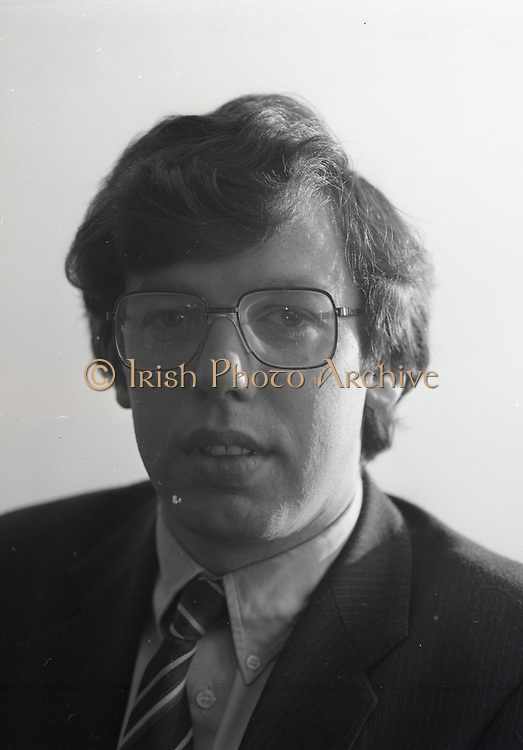 Portrait of Brian Cower,<br /> 17th May 1984