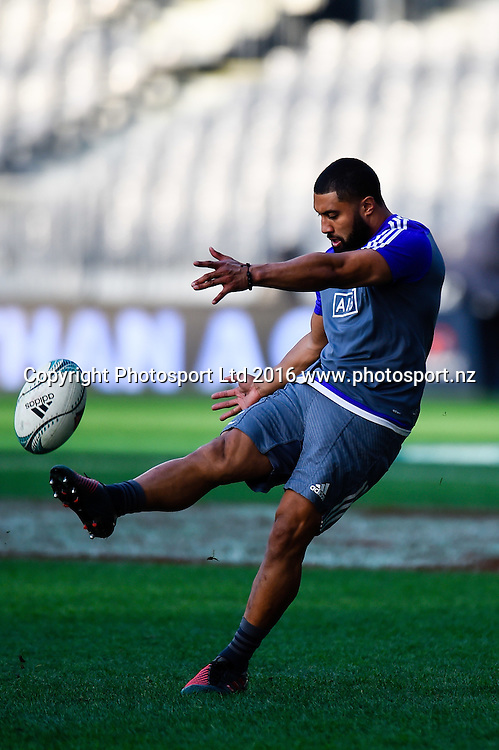 Lima Sopoaga of the All Blacks during the All Blacks Captains run at Forsyth Barr Stadium, Dunedin, New Zealand. 24th June 2016. Copyright Photo: John Davidson / www.photosport.nz