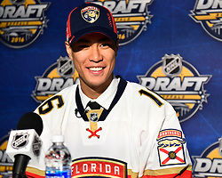 Jonathan Ang of the Peterborough Petes was selected by the Florida Panthers at the 2016 NHL Draft in Buffalo, NY on Saturday June 25, 2016. Photo by Aaron Bell/CHL Images