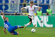 (R) Legia's Jakub Kosecki fights for the ball with (L) Lech's Rafal Murawski during T-Mobile Extraleague soccer match between Legia Warsaw and Lech Poznan at Pepsi Arena in Warsaw, Poland...Poland, Warsaw, May 18, 2013..Picture also available in RAW (NEF) or TIFF format on special request...For editorial use only. Any commercial or promotional use requires permission...Photo by © Adam Nurkiewicz / Mediasport