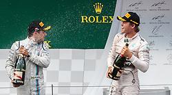 21.06.2015, Red Bull Ring, Spielberg, AUT, FIA, Formel 1, Grosser Preis von Österreich, Rennen, im Bild v.r.: Sieger Nico Rosberg, (GER, Mercedes AMG Petronas F1 Team) und 3. Platz, Felipe Massa, (BRA, Williams Martini Racing) // f.r.: Winner Nico Rosberg, (GER, Mercedes AMG Petronas F1 Team) und 3rd placed, Felipe Massa, (BRA, Williams Martini Racing) // during the Race of the Austrian Formula One Grand Prix at the Red Bull Ring in Spielberg, Austria, 2015/06/21, EXPA Pictures © 2015, PhotoCredit: EXPA/ JFK