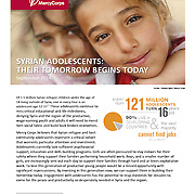 "Mercy Corps Report, ""Syrian Adolescents–Their Tomorrow Begins Today,"" Sept 2014."