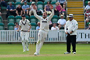 Roelof van der Merwe of Somerset bowling during the Specsavers County Champ Div 1 match between Somerset County Cricket Club and Nottinghamshire County Cricket Club at the Cooper Associates County Ground, Taunton, United Kingdom on 10 June 2018. Picture by Graham Hunt.