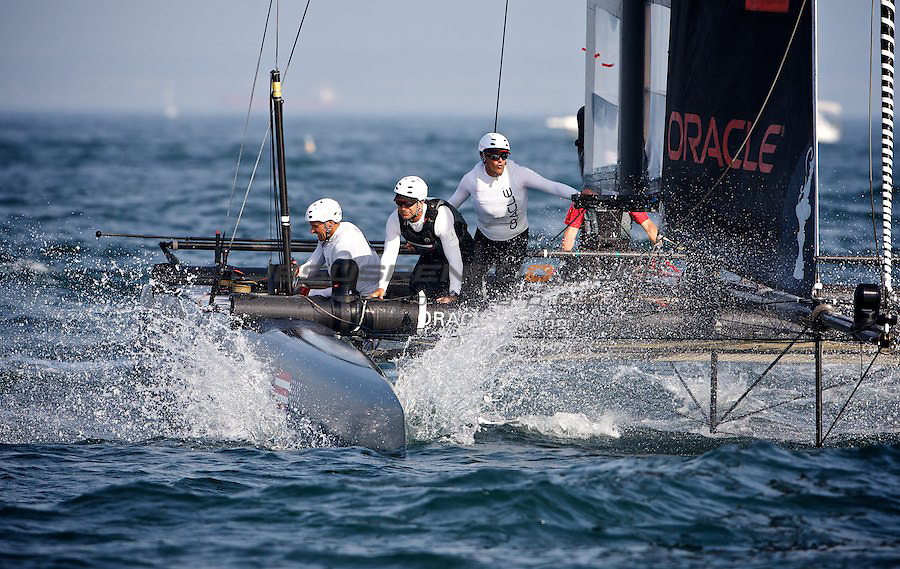 AC World Series,Cascais,Portugal.oracle racing Spithill defeats Coutts on 4thvs3rd match race , 11/8/2011