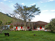 A typical home in coffee country - Colombia