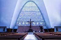 Interior da Igreja Matriz São Miguel Arcanjo. São Miguel do Oeste, Santa Catarina, Brasil. / <br /> Interior of São Miguel Arcanjo Mother Church. São Miguel do Oeste, Santa Catarina, Brazil.
