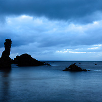 Rock and Spindle at Dusk on the Fife Coast near St Andrews