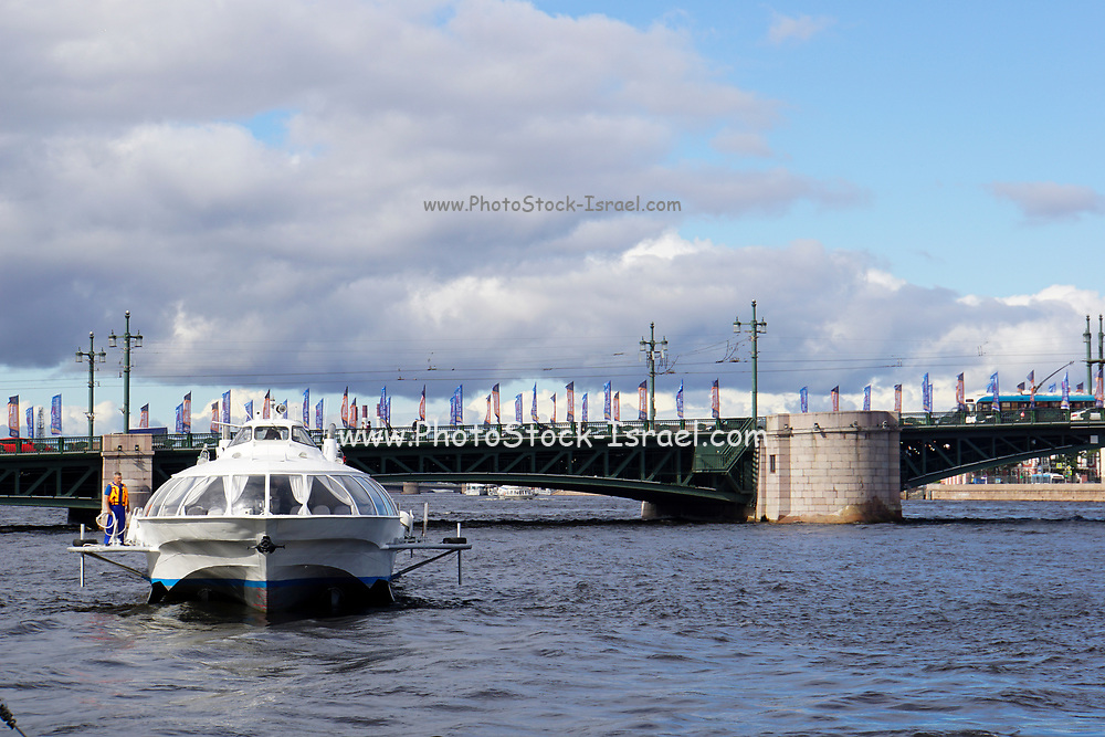 The Neva river cruise, St Petersburg, Russia