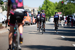 CANYON//SRAM Racing riders roll to the start line Stage 1 of the Amgen Tour of California - a 124 km road race, starting and finishing in Elk Grove on May 17, 2018, in California, United States. (Photo by Balint Hamvas/Velofocus.com)
