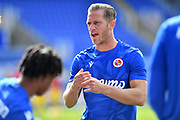 Reading defender Michael Morrison (4) during the EFL Sky Bet Championship match between Reading and Barnsley at the Madejski Stadium, Reading, England on 19 September 2020.