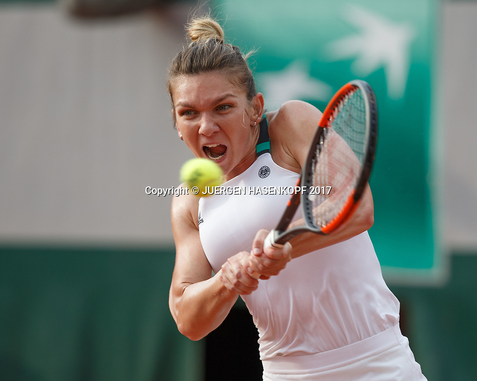 SIMONA HALEP (ROU)<br /> <br /> Tennis - French Open 2017 - Grand Slam / ATP / WTA / ITF -  Roland Garros - Paris -  - France  - 1 June 2017.